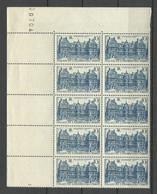 FRANCE 1946 Michel 758 As 10-block MNH With Order Number & Margin Fields Palais Du Luxembourg - Ungebraucht