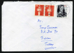 "Germany Hamburg 1986 Mail Cover Used To Turkey | Mi 1272 Oskar Kokoschka, Artist & Writer | Literature: ""Self-Portrait"" - Briefe U. Dokumente"