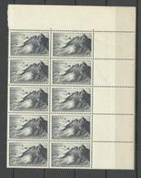 FRANCE 1946 Michel 760 As 10-block MNH With Order Number & Empty Margin Pointe Du Raz - Ungebraucht