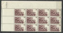 FRANCE 1946 Michel 759 As 12-block MNH With Order Number & Empty Margin Fields Rocamadour - Ungebraucht