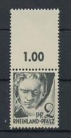 1947, Französische Zone Rheinland Pfalz, 1 LF, ** - French Zone
