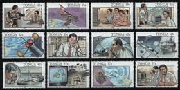 Tonga 1991 - Mi-Nr. 1175-1186 ** - MNH - Telekommunikation - Tonga (1970-...)