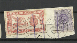 SPAIN Spanien Espana Michel 230 & 235 On Out Cut O Tanger 1922 - Used Stamps