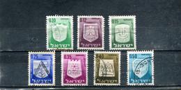Israël 1965-67 Yt 276-278 280-281 282A-283 Armoiries De Villes - Gebraucht (ohne Tabs)