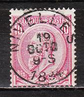 46  Oblitération Centrale NIVELLES - LOOK!!!! - 1884-1891 Leopold II