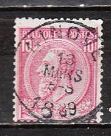 46  Oblitération Centrale NINOVE - LOOK!!!! - 1884-1891 Leopold II