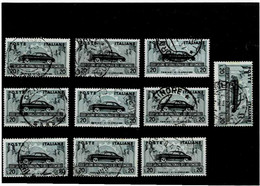 """ITALIA REPUBBLICA ,""""Auto Torino"""",10 Pezzi ,usati ,selezionati ,qualita Ottima - 1946-60: Used"""