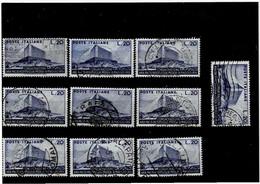 """ITALIA REPUBBLICA ,""""Ara-Pacis"""",10 Pezzi ,usati ,selezionati ,qualita Ottima - 1946-60: Used"""