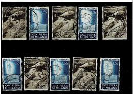 """ITALIA REPUBBLICA ,""""Fiera Di Milano"""",10 Serie Complete ,usate ,selezionate ,qualita Ottima - 1946-60: Used"""
