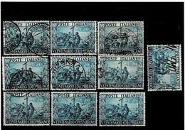 """ITALIA REPUBBLICA ,""""Colombo"""",10 Pezzi Usati ,selezionati ,qualita Ottima - 1946-60: Used"""