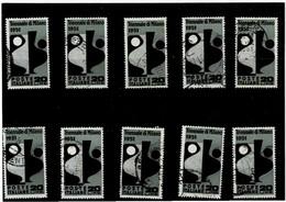 """ITALIA REPUBBLICA ,""""Triennale"""",10 Pezzi Usati Del 20 Lire ,selezionate ,qualita Ottima - 1946-60: Used"""