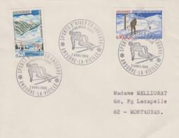 Enveloppe   FDC   1er  Jour    ANDORRE    Paire   SPORTS  D' HIVER   1966 - FDC