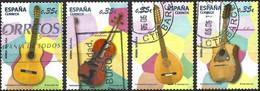 Spain 2011 - Mi 4579/82 - YT 4284/87 ( Musical Instruments ) Complete Set - 2011-... Usati