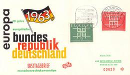 Germany Cover 1963 Karlsruhe 10 Jahre Europäische Menschenrechtskonvention (DD33-21) - Briefe U. Dokumente