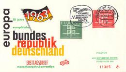 Germany Cover 1963 Frankfurt Am Main 10 Jahre Europäische Menschenrechtskonvention (DD33-21) - Briefe U. Dokumente