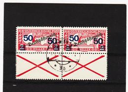 UMD1000  ÖSTERREICH 1921  Michl  254 Mit ANDREASKREUZ Im PAAR Gestempelt SIEHE ABBILDUNG - Used Stamps