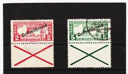 UMD998  ÖSTERREICH 1919  Michl  252/53 A Gez. 12:5 Mit ANDREASKREUZ  Gestempelt SIEHE ABBILDUNG - Used Stamps