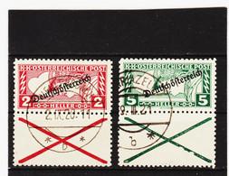 UMD999  ÖSTERREICH 1919  Michl  252/53 B Gez. 11:5 Mit ANDREASKREUZ  Gestempelt SIEHE ABBILDUNG - Used Stamps