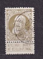 [75_0034] Zegel 75 Met Cirkelstempel Floreffe Scan Voor- En Achterzijde - 1905 Thick Beard