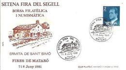 MATASELLOS  1981  MATARO - 1981-90 Storia Postale