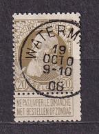 [75_0036] Zegel 75 Met Cirkelstempel Watermael Scan Voor- En Achterzijde - 1905 Thick Beard