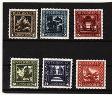 UMD664  ÖSTERREICH 1926  Michl  488/93 (*) FALZ ZÄHNUNG SIEHE ABBILDUNG - Unused Stamps