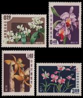 Taiwan 1958 - Mi-Nr. 288-291 ** - MNH - Blumen / Flowers - Unused Stamps