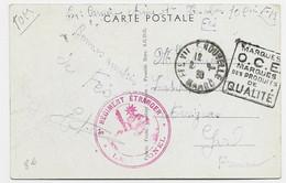 MAROC CARTE FM DAGUIN MARQUES O.C.E. MARQUES DES PRODUITS DE QUALITE FES VILLE NOUVELLE 1939 - Covers & Documents