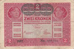 Autriche - Billet De 2 Kronen - 1er Mars 1917 - Austria