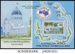 COCOS KEELING ISLANDS - 1984 AUSTRALIAN WORLD PHILATELIC EXHIBITION MIN/SHT MNH - Cocoseilanden