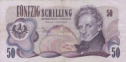 Autriche - Billet De 50 Schilling - Ferdinand Raimund - 2 Janvier 1970 - P144 - Austria