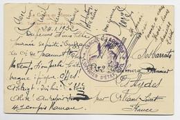 MAROC CARTE LA GUERRE AU MAROC + CACHET VIOLET CERCLE LOUKKOS OFFICIER D'ETAT CIVIL 1932 - Covers & Documents