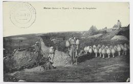 MAROC CARTE  FABRIQUE DE GARGOLETTES + TELEG MILITAIRE 22 JUIN 1921 - Covers & Documents