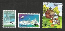 MALDIVES N°1420, 1467, 1472 Cote 4.90 Euros - Maldiven (1965-...)
