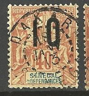 SENEGAL N° 50A Chiffre Espacé OBL - Used Stamps