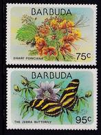 Barbuda 1978, Fish, Sealife, Minnr 427-428, MNH. Cv 10,50 Euro - Barbuda (...-1981)