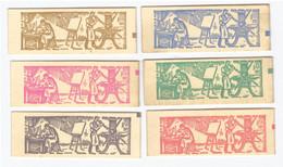 Lot 6 Carnets France Carnet Philatex 1964 Coq Decaris Non Ouvert Contenant Chacun 8 Timbres Timbre Neuf** N°1331 C5 - Gedenkmarken