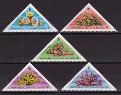 Maldives, Sealife, Coral, Triangle Stamps, MNH - Maldiven (1965-...)
