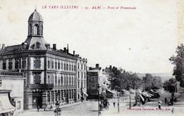 81 - ALBI - Poste Et Promenade - Albi