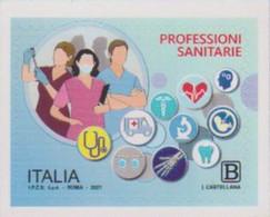 ITALY, 2021, MNH, HEALTH PROFESSIONS, NURSES, DOCTORS, AMBULANCES, 1v - Other