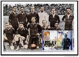 Republic De Guinee Olympics Football Antwerpen 1920 On Kind Of Maximcard Or Memorycard 2001.SOCCER - Zomer 1920: Antwerpen