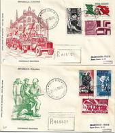 2 Fdc Filagrano: RESISTENZA (1965); Raccomandate; AS_Roma - F.D.C.