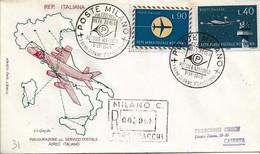 Fdc Filagrano: SERVIZIO POSTALE NOTTURNO (1965); Raccomandata; AS_Milano - F.D.C.