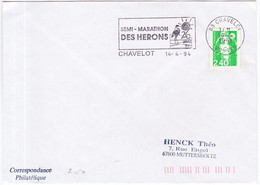 Frankrijk 1994, Letter From Chavelot To Muttersholtz, Stamped With A Bird - Briefe U. Dokumente