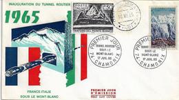Fdc TRAFORO MONTE BIANCO (1965); No Viaggiata; Congiunta - F.D.C.