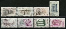ESPAGNE 1974 N° 1839/1846 ** Neufs MNH Superbes C 2 € Art Romain Aqueduc De Ségovie Pont D'Alcantara Ossio Théâtre - 1971-80 Nuovi