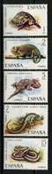 ESPAGNE 1974 N° 1847/1851 ** Neufs MNH Superbes C 2.50 € Faune Reptiles Tortue Turtles Lézard Vipère Caméléon Salamandr - 1971-80 Nuovi