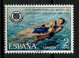 ESPAGNE 1974 N° 1857 ** Neuf MNH Superbe Championnats Du Monde De Sauvetage Et De Secourisme Logo - 1971-80 Nuovi