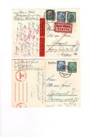 2 Stk Postkarten 2. Weltkrieg Zensur Zensuriert V. Bregenz N. Ungarn D. Eilboten Deutsches Reich - Covers & Documents