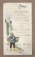 MENU Banquet De 1906.. Hôtel De L'Europe, Propriétaire A.MARTIN - Menus